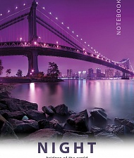 "Блокнот 40 л. в кл. А7 ""Night bridges"" ККЛ гребень арт.Б40А7М220/K"