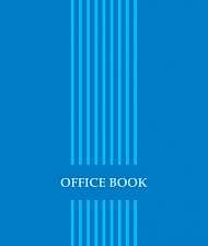 "Блокнот 40 л. в кл. А7 ""Office book"" гребень УФ-лак арт.Б40А7М057/6"