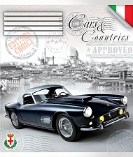 "Т. 96 л. кл. ""Car & Countries"" ККЛ эконом арт.ТО96К9324/Э/6к"